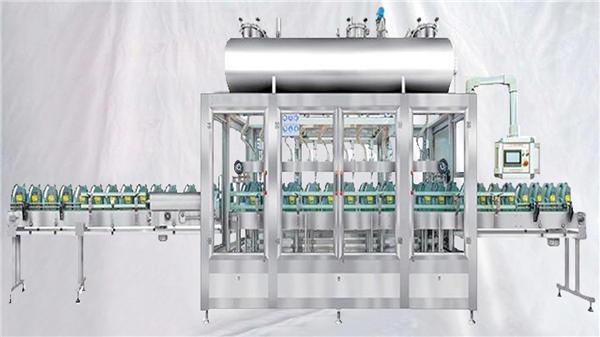 Veiende roterende påfyllingsmaskin for smøremidler