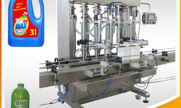 Dobbelhodet full-automatisk væskefyllingsmaskin for stempeltype