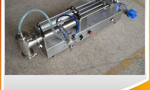 Halvautomatisk stempelfyllingsmaskin ideell oljefyllingsmaskin