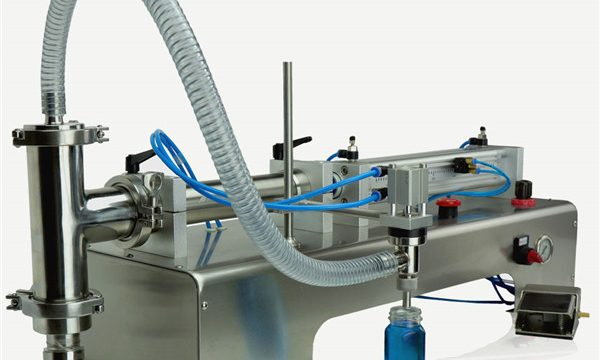 Pneumatisk kontroll dobbelt hoder smøreoljefyllingsmaskin