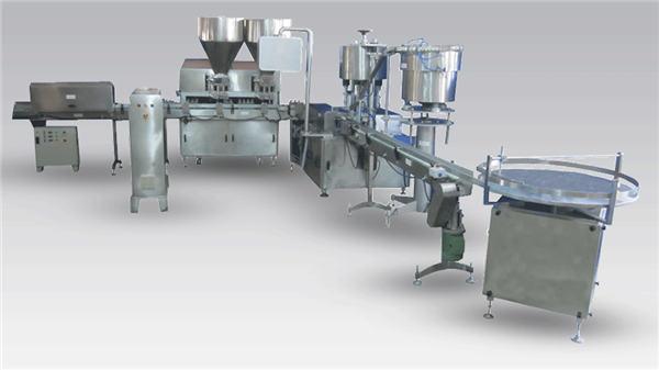 Automatisk flytende ølflaskeutfyllingsmaskin for produksjon og merking av produksjonslinjer