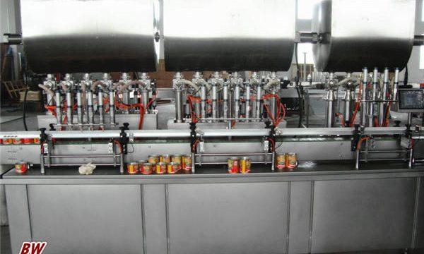 Automatisk påfyllingsmaskin med varm pizzasaus