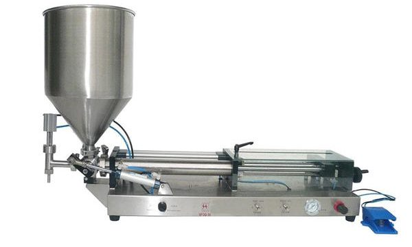 Semi automatisk ketchup-fyllingsmaskin