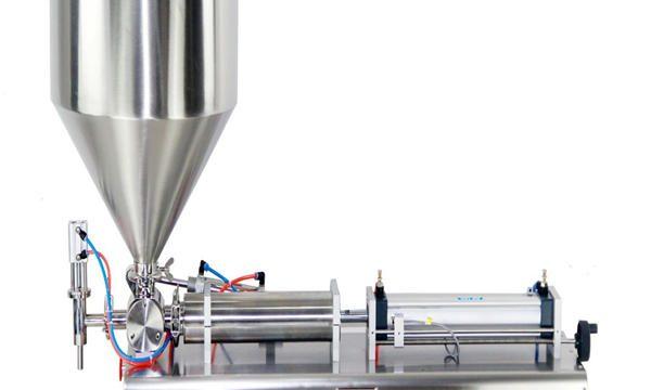 Halvautomatisk stempelkrukke fylle maskin
