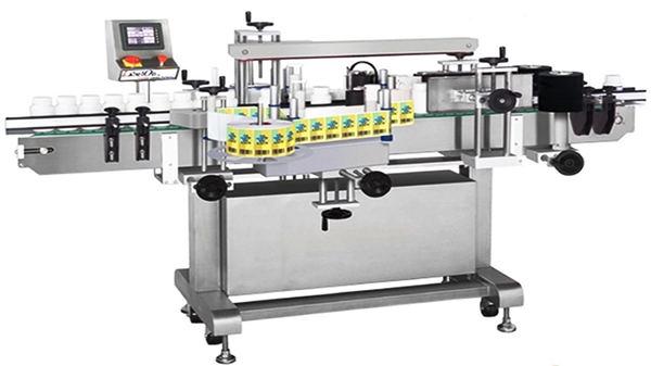 Automatisk dobbel flaske etiketteringsmaskin