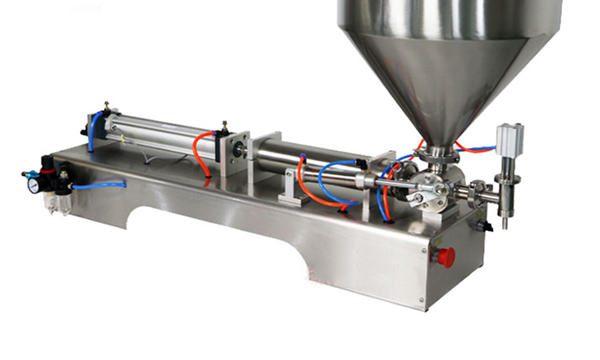 Halvautomatisk fyllingsmaskin for tykk saus